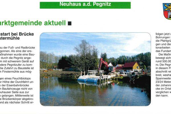 Fuß- und Radbrücke Finstermühle in Neuhaus a.d. Pegnitz