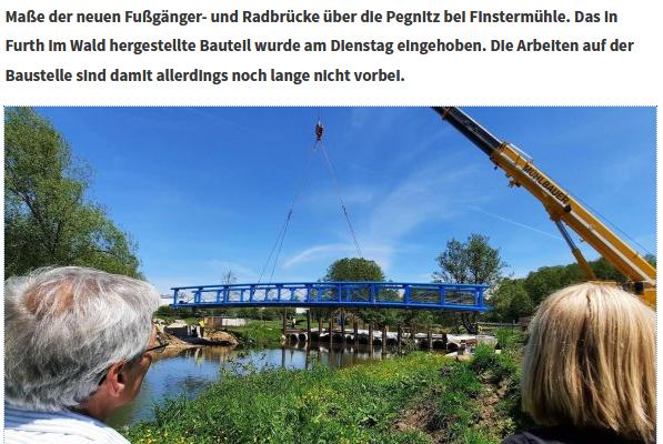 Neue Fußgängerbrücke bei Finstermühle